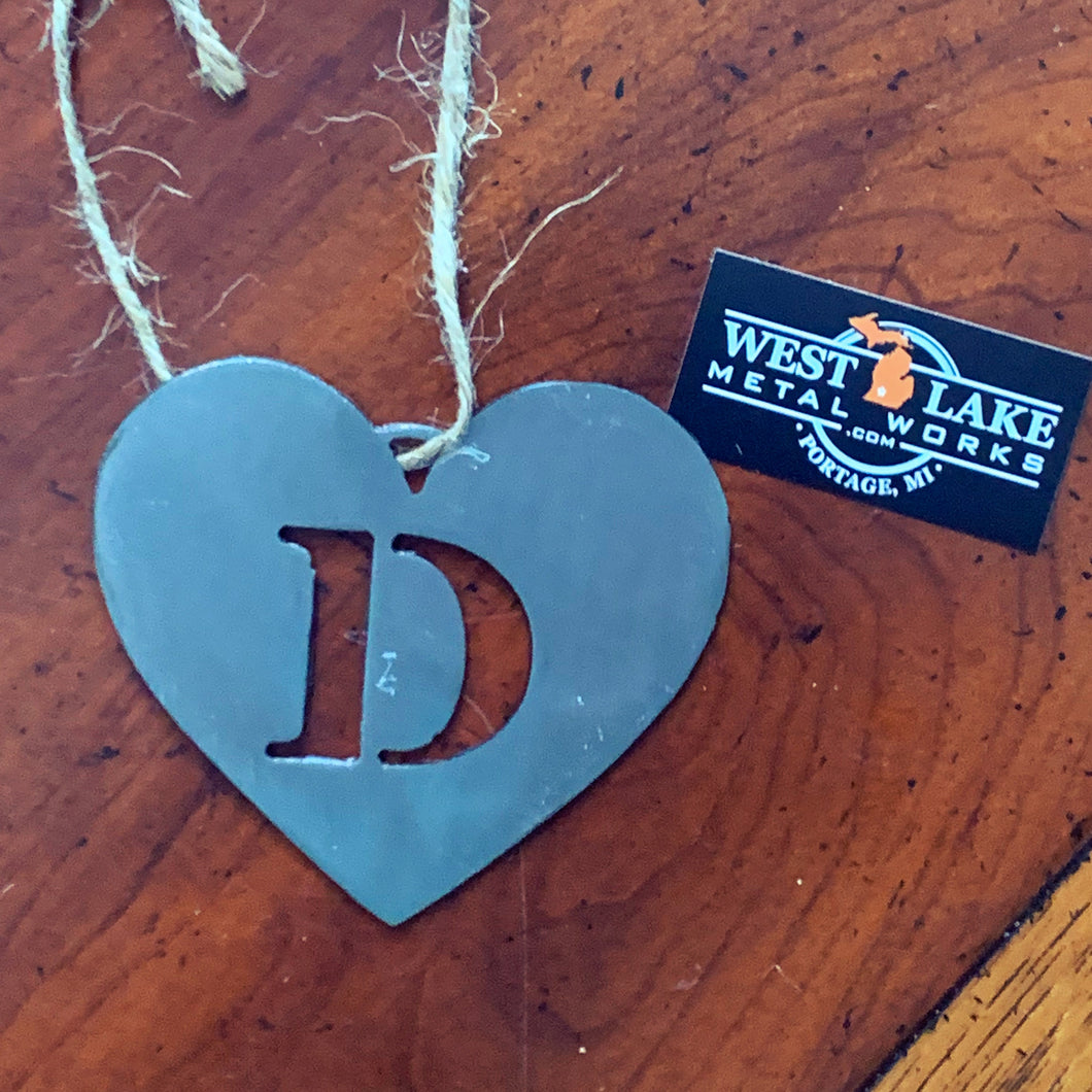 D Monogram Holiday Ornament
