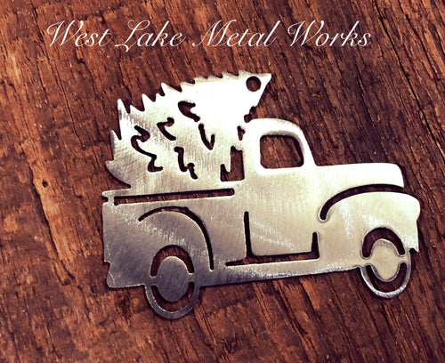 WLMW Vintage Christmas Tree Truck Ornament