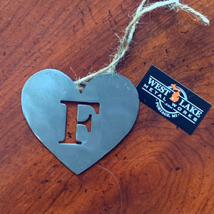 F Monogram Holiday Ornament