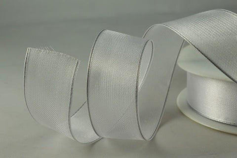 25mm, 40mm & 70mm Wired Sheer Ribbon x 25 metre rolls!