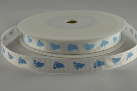10mm Grosgrain Baby Feet Ribbon x 20 metre rolls!