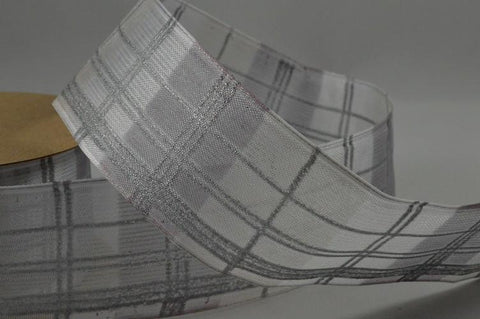 40mm Wired Printed Tartan Ribbon x 3 Metre Rolls!!