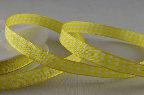 5mm, 10mm & 25mm Gingham Ribbon x 25 Metres!!