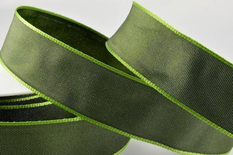 25mm Green Wired Ribbon x 3 metre rolls!!