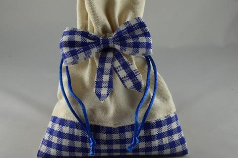 Coloured Cream Gingham Gift Bags x 5!!