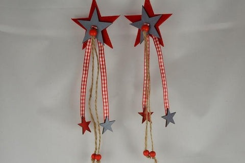 Felt Christmas Hanging Star Decorations x 2!!