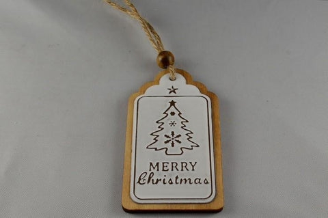 Merry Christmas Tree Hanging Decoration & Loop
