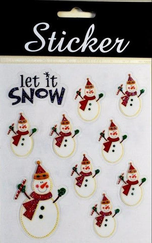 Let is Snow / Snowmen Christmas Stickers