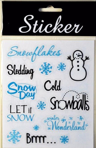 Christmas Snowday Themed Stickers