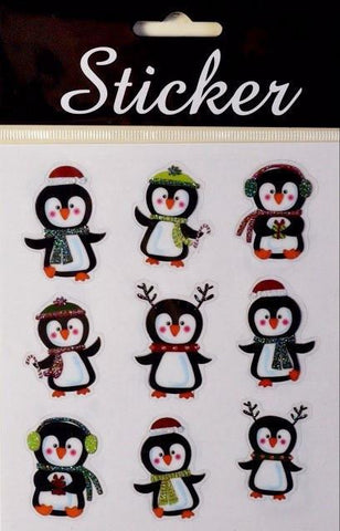 Christmas Penguin Stickers