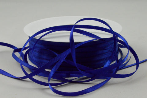 3mm Dark Blue Double Sided Satin Ribbon x 100 Metre Rolls!