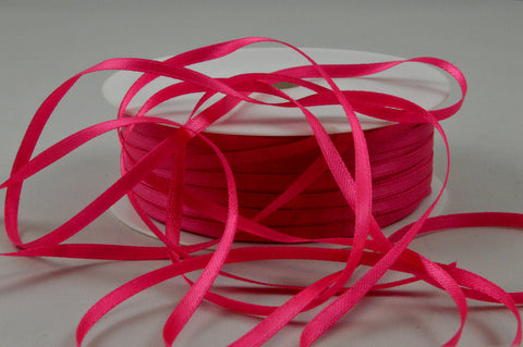 3mm Pink Double Sided Satin Ribbon x 100 Metre Rolls!