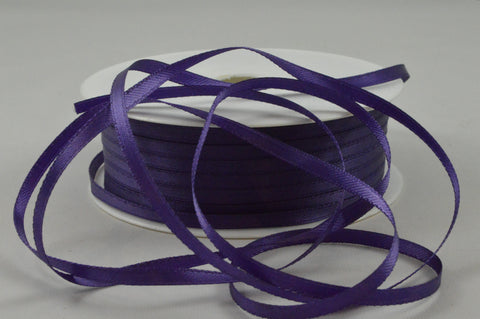 3mm Purple Double Sided Satin Ribbon x 100 Metre Rolls!