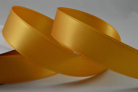 25mm Gold Double Sided Satin Ribbon x 20 Metre Rolls!