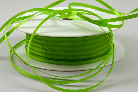 3mm Green Double Sided Satin Ribbon x 100 Metre Rolls!
