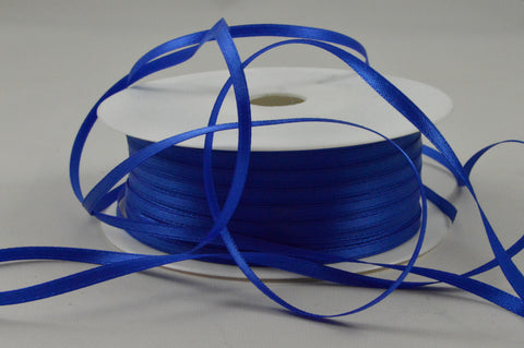 3mm Blue Double Sided Satin Ribbon x 100 Metre Rolls!