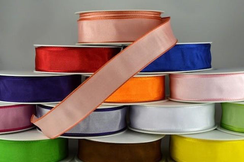 40mm Wired Colour Woven Ribbon x 25 metre rolls!!