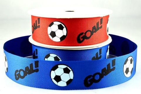 25mm & 38mm Football Ribbon x 3 Metre Rolls!