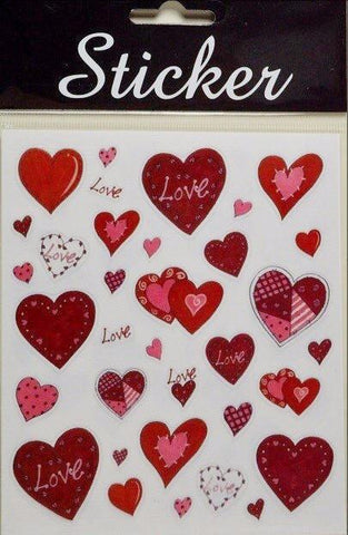Love Heart Red Sticker Selection