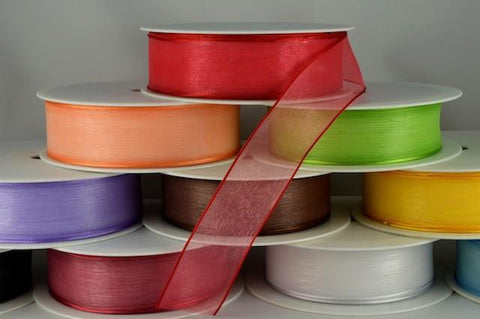 25mm Sheer Organza Ribbon x 25 Metres!!