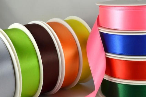 50mm Double Faced Satin Ribbon x 25 Metre Rolls!!