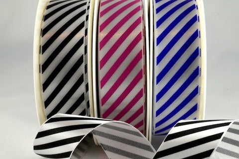 25mm & 38mm Candy Stripe Ribbon x 100 Metre Rolls!!