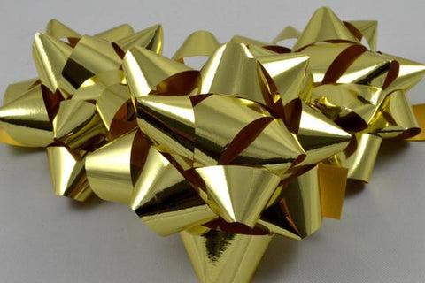 Set of 6 Metallic Self Adhesive Gift Bows