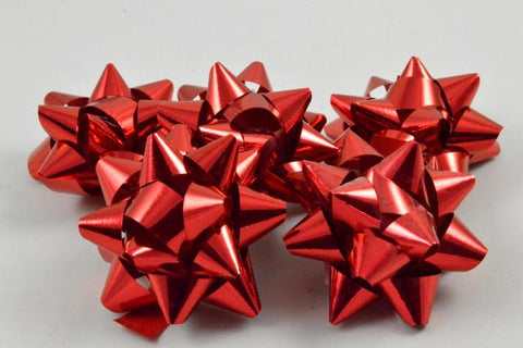 Set of 9 Metallic Self Adhesive Gift Bows