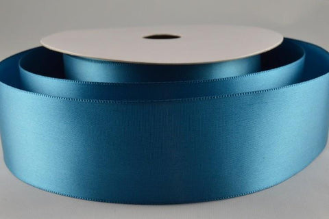 38mm Aqua Single Sided Satin Ribbon x 20 Metre Rolls!!