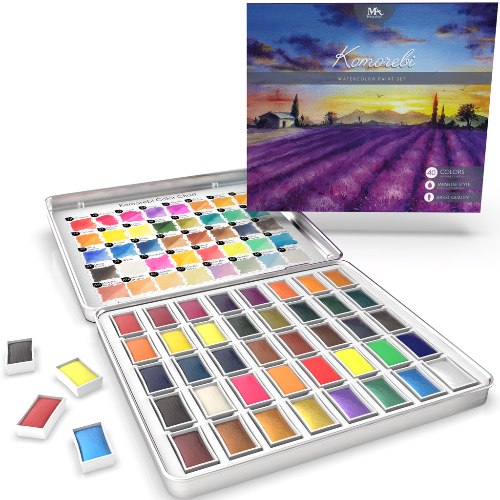 Komorebi Premium Watercolor Paints - 40 Colors