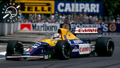 SEBASTIAN VETTEL ADDS EX-MANSELL FW14B TO HIS SHOPPING CART