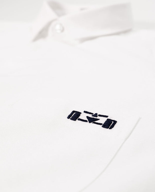 SH08. WHITE OXFORD SHIRT - 8JS