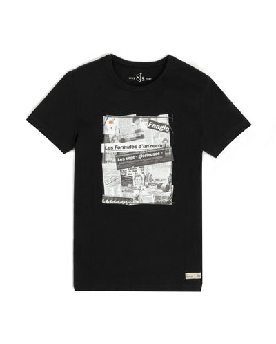 TS85. BLACK T-SHIRT STRIPS - 8JS