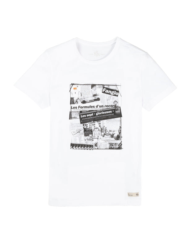 TS85. WHITE T-SHIRT STRIPS - 8JS