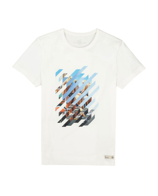 TS86. OFF-WHITE T-SHIRT DIVIDED - 8JS
