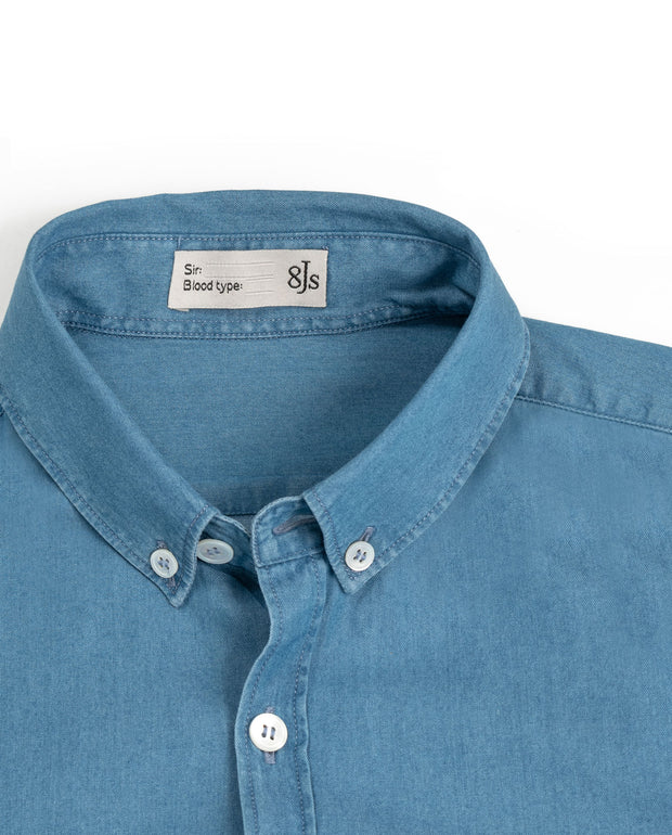 SH10. BLUE CHAMBRAY SHIRT - 8JS