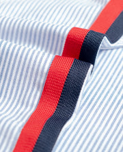 SH21. STRIPED OXFORD NAVY/RED - 8JS
