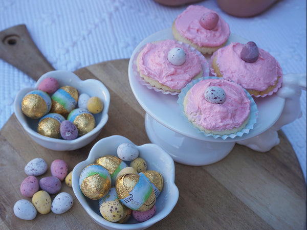 Willow Swim plant based Easter vanilla cupcake recipe