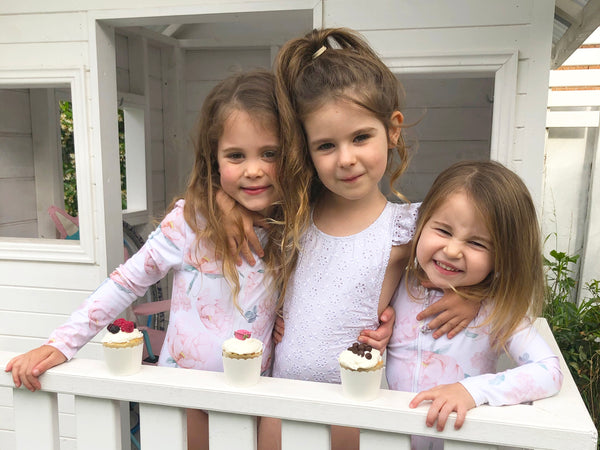 Willow Swim plant based vanilla cupcakes girls in cubby house