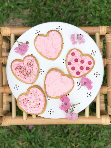 Willow Swim recipes Valentines Day heart shape plant based butter cookies