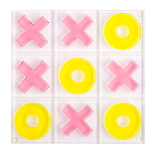 LUCITE TIC TAC TOE in SUPER FLY