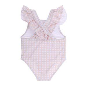 """Gracie"" in Peachy Gingham"