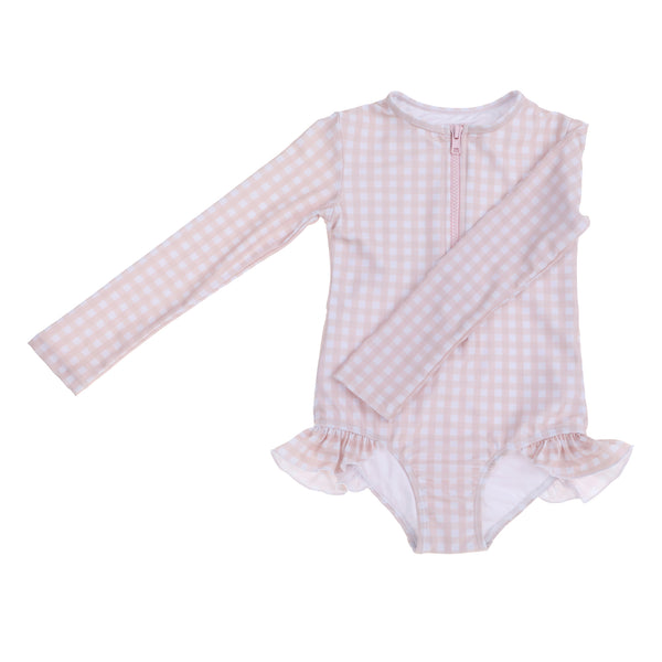 """Sophia"" in Peachy Gingham"