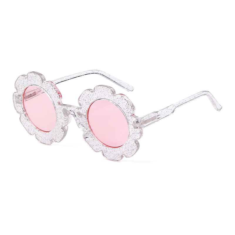 Willow Swim Lulu girls sunglasses in Sparkle