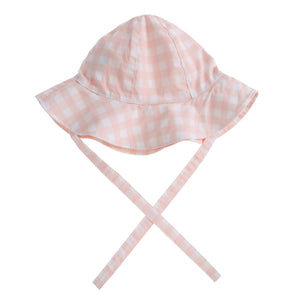 Willow Swim Frankie hat in Neutral Gingham
