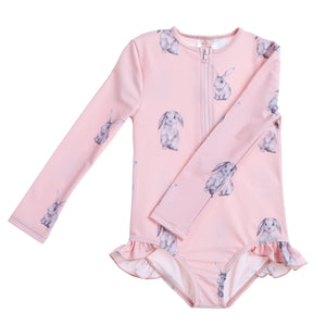 Willow Swim Sophia girls swimsuit in Funny Bunny