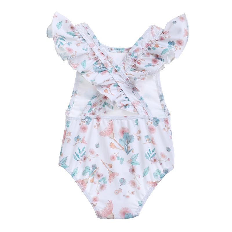 Willow Swim Gracie girls swimsuit in gumnuts