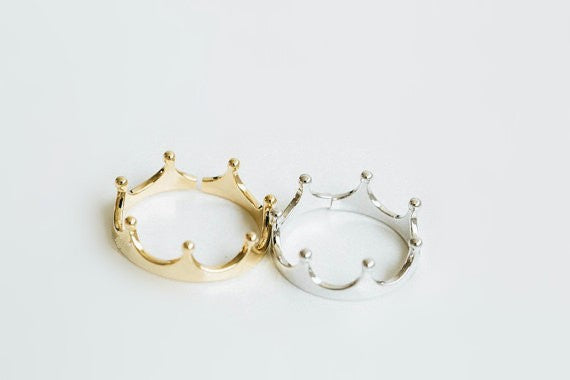 Crown Ring (Gold or Silver)