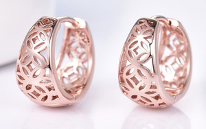 18k Rose gold Celtic Earrings