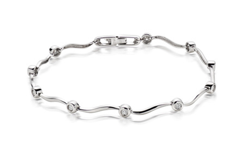 10k White gold Stylish bracelet
